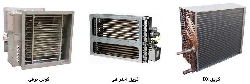 انواع کویل های سرمایش و گرمایش در دستگاه هواساز