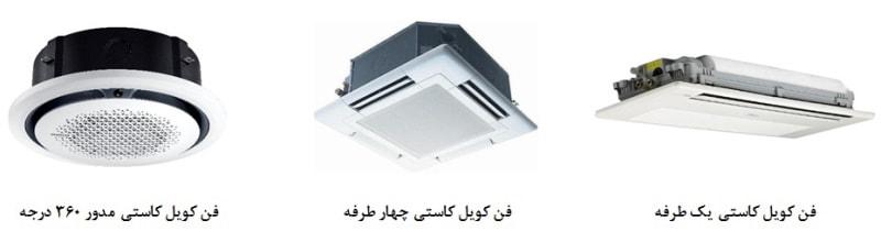 انواع فن کویل سقفی کاستی