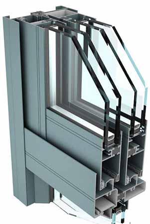استراکچر دو جداره آلومینیومیِ ترمال بریک در هواساز هایژنیک